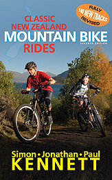 Classic New Zealand Mountain Bike Rides (7th edition) book cover.