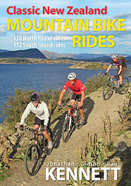 Classic New Zealand Mountain Bike Rides (8th edition) book cover.
