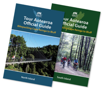 Tour Aotearoa Official Guide covers (NI & SI)
